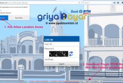Cara Login Web Transaksi PPOB Bank BTN